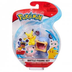 Pokémon Battle Mini Figures 3-Packs - Jigglypuff Pikachu & Loudred