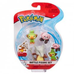 Pokémon Battle Mini Figures 3-Packs - Grookey Stufful & Marowak