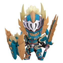 Monster Hunter World Iceborne Nendoroid Action Figure Hunter Male Zinogre Alpha Armor 10 cm
