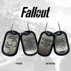 Fallout Dog Tags with ball chain Logo
