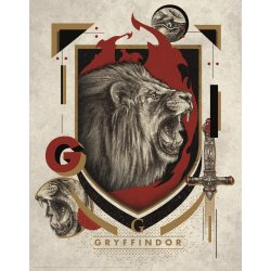 Harry Potter Art Print Gryffindor 36 x 28 cm