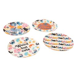 Lilo & Stitch Plates 4-Pack Aloha Hawaii
