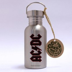 AC/DC Stainless Steel Water Bottle Logo
