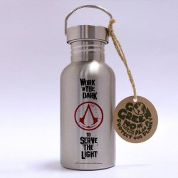 Assassins Creed Stainless Steel Water Bottle Logo