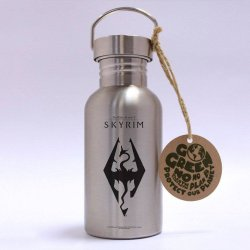 The Elder Scrolls V: Skyrim Stainless Steel Water Bottle Dragon Symbol