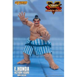 Street Fighter V Champion Edition Action Figure 1/12 E. Honda Nostalgia Costume 18 cm