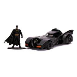 Batman 1989 Hollywood Rides Diecast Model 1/32 1989 Batmobile with Figure