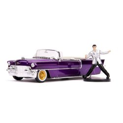 Elvis Presley Hollywood Rides Diecast Model 1/24 1956 Cadillac Eldorado with Figure