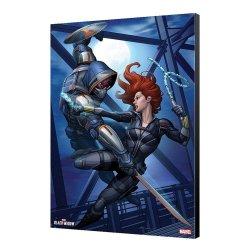 Black Widow Movie Wooden Wall Art Black Widow vs Taskmaster 34 x 50 cm