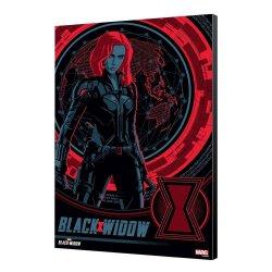 Black Widow Movie Wooden Wall Art BW Blackops 34 x 50 cm