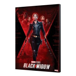 Black Widow Movie Wooden Wall Art BW Movie Poster 34 x 50 cm