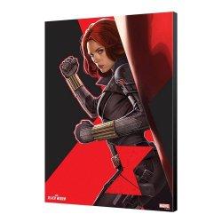 Black Widow Movie Wooden Wall Art BW Side 34 x 50 cm