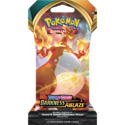 Pokémon TCG Sword & Shield Darkness Ablaze Sleeved Booster