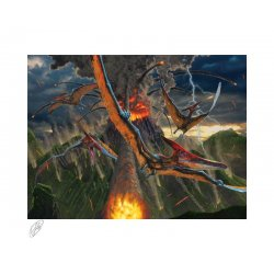 Original Artist Series Art Print Eruption by Vincent Hie 41 x 51 cm - unframed