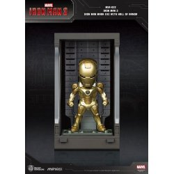 Iron Man 3 Mini Egg Attack Action Figure Hall of Armor Iron Man Mark XXI 8 cm