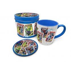 Marvel Mug with Coaster Retro Collectors Cards