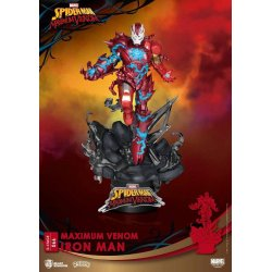 Marvel Comics D-Stage PVC Diorama Maximum Venom Iron Man 16 cm