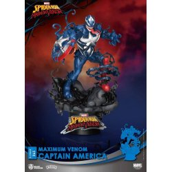 Marvel Comics D-Stage PVC Diorama Maximum Venom Captain America 16 cm