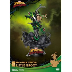 Marvel Comics D-Stage PVC Diorama Maximum Venom Little Groot 16 cm
