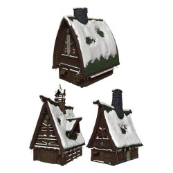 D&D Icons of the Realms Icewind Dale: Rime of the Frostmaiden Papercraft Set Ten Towns