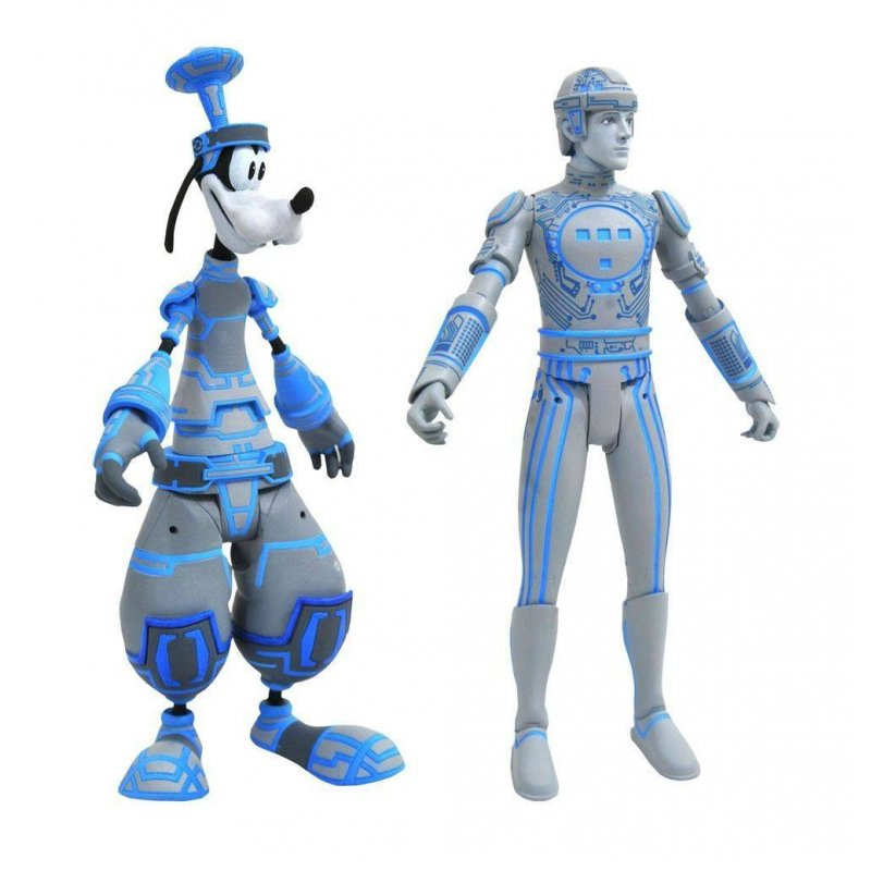 Kingdom Hearts Select Action Figures 2-Pack Goofy & Tron 18 cm