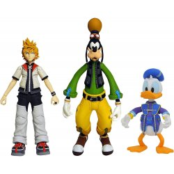 Kingdom Hearts Select Action Figures 18 cm - Roxias - Donald Duck - Goofy