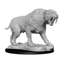 WizKids Deep Cuts Unpainted Miniature Saber-Toothed Tiger Case (6)