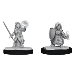 Pathfinder Battles Deep Cuts Unpainted Miniatures Halfling Cleric Female Case (6)