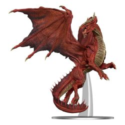 D&D Icons of the Realms Premium Miniature pre-painted Adult Red Dragon 20 cm