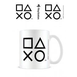 Sony PlayStation Mug Sticker Shapes Black