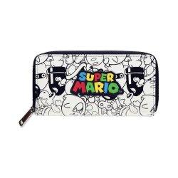 Super Mario Zip Around Wallet Logo