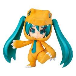 Character Vocal Series 01 Nendoroid Action Figure Hatsune Miku: Kigurumi Agumon Ver. 10 cm
