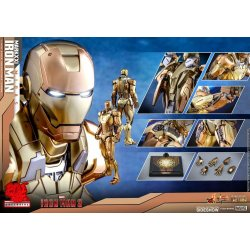 Iron Man 3 Movie Masterpiece Action Figure 1/6 Iron Man Mark XXI Midas Hot Toys Exclusive 32 cm