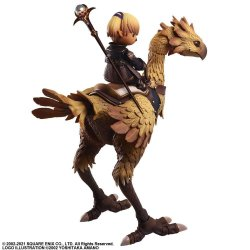 Final Fantasy XI Bring Arts Action Figures Shantotto & Chocobo 8 - 18 cm