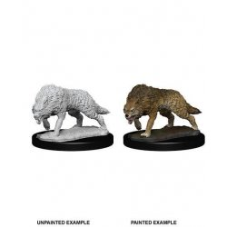WizKids Deep Cuts Unpainted Miniature Timber Wolves Case (6)