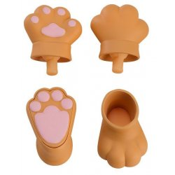 Original Character Parts for Nendoroid Doll Figures Animal Hand Parts Set (Brown)
