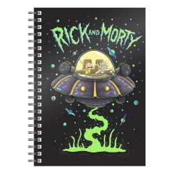 Rick & Morty Notebook Space Ship