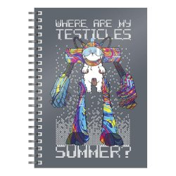 Rick & Morty Notebook Where Are My Testicles