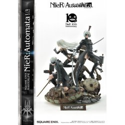 NieR Automata Statue 1/4 2B, 9S & A2 Deluxe Version 62 cm