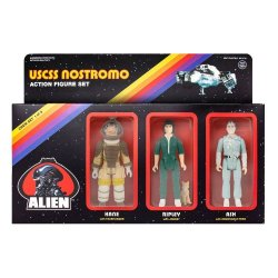 Alien ReAction Action Figure 3-Pack Pack A 10 cm