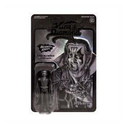 King Diamond ReAction Action Figure Black-On-Black Metal King Diamond 10 cm