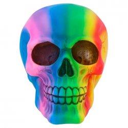 Rainbow Skull ornament 15cm figure
