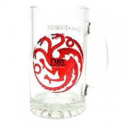 Game of Thrones Targaryen Fire and Blood glass mug