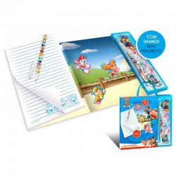 Paw Patrol stationery set with magnets