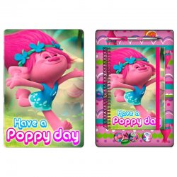 Trolls in September stationary metallic box