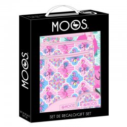 Moos Flamingo Pink gift set