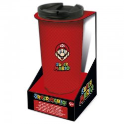 Nintendo Super Mario Bros stainless steel coffee tumbler 425ml
