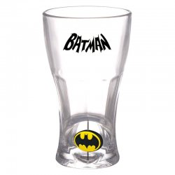 DC Comics Batman logo 3D glass