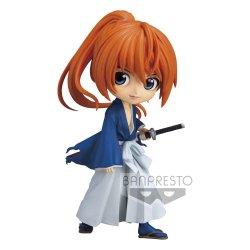 Rurouni Kenshin Q Posket Mini Figure Himura Battousai Ver. A 14 cm