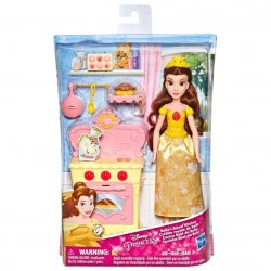 The Disney Princess Belle Beauty and the Beast 28cm doll s Royal Kitchen